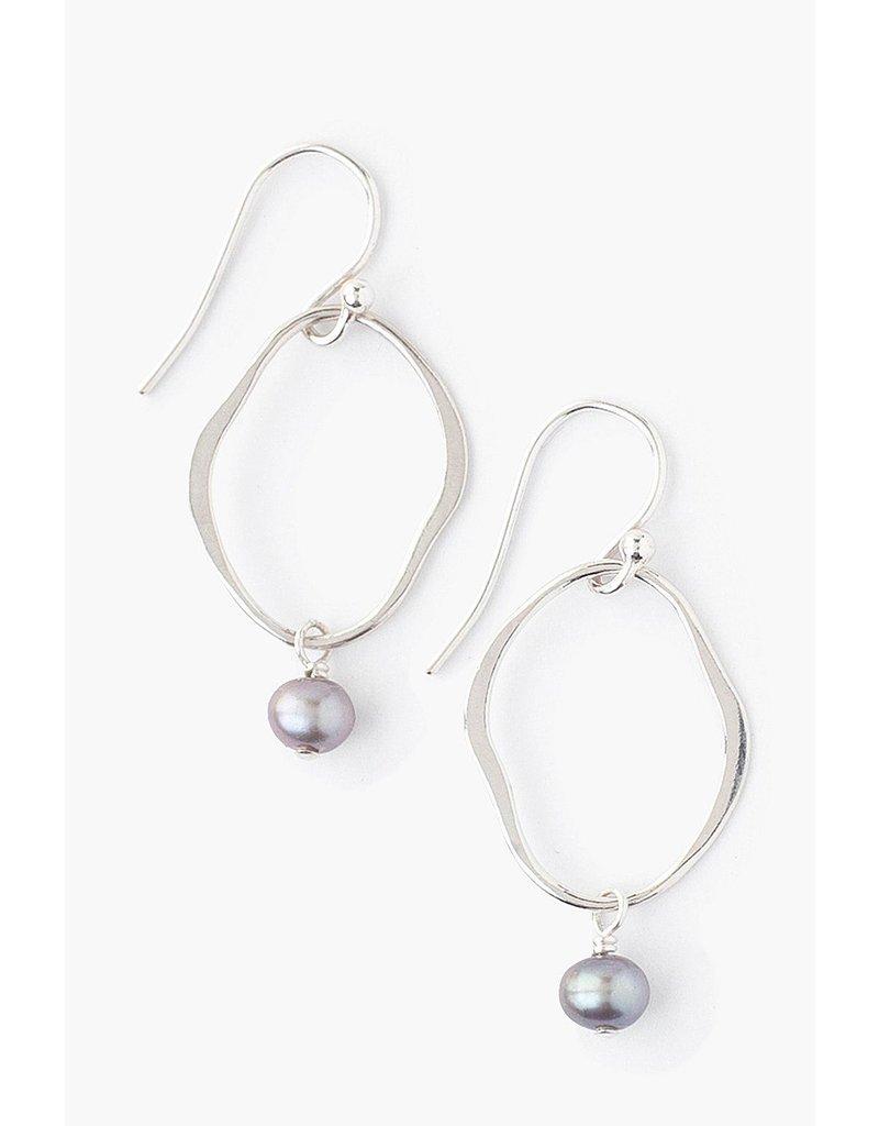 CHAN LUU Taupe Pearl Matisse Earrings