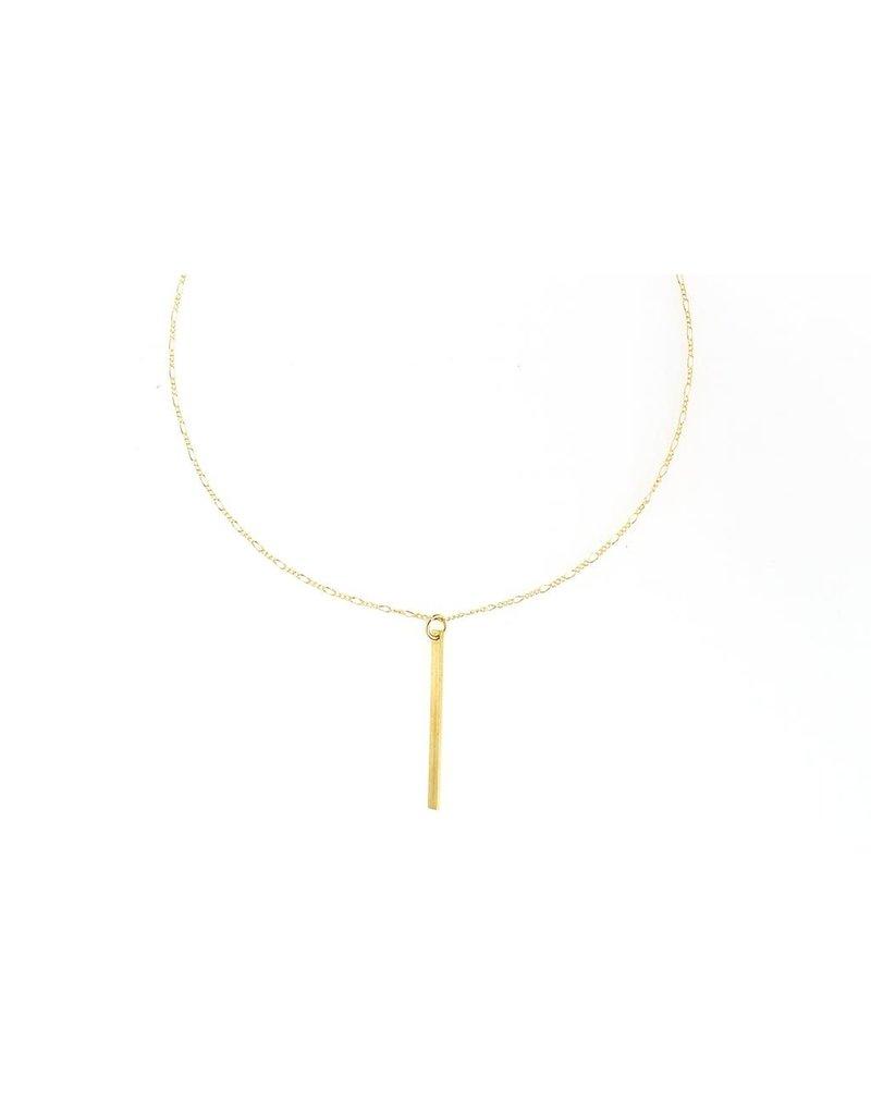 Ruthie & Olive Gold Long Bar Pendant Necklace