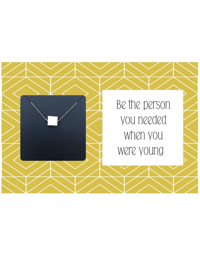 Ruthie & Olive Silver Square Pendant Necklace