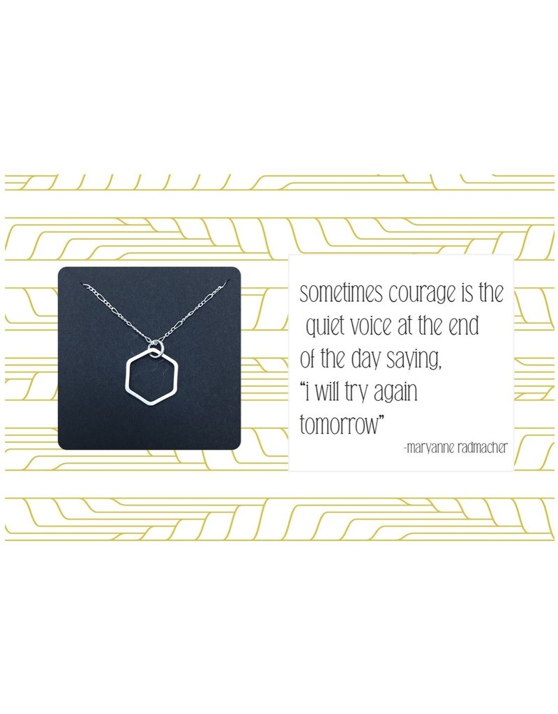 Ruthie & Olive Silver Open Hexagon Pendant Necklace