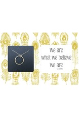 Ruthie & Olive Gold Open Circle Pendant Necklace