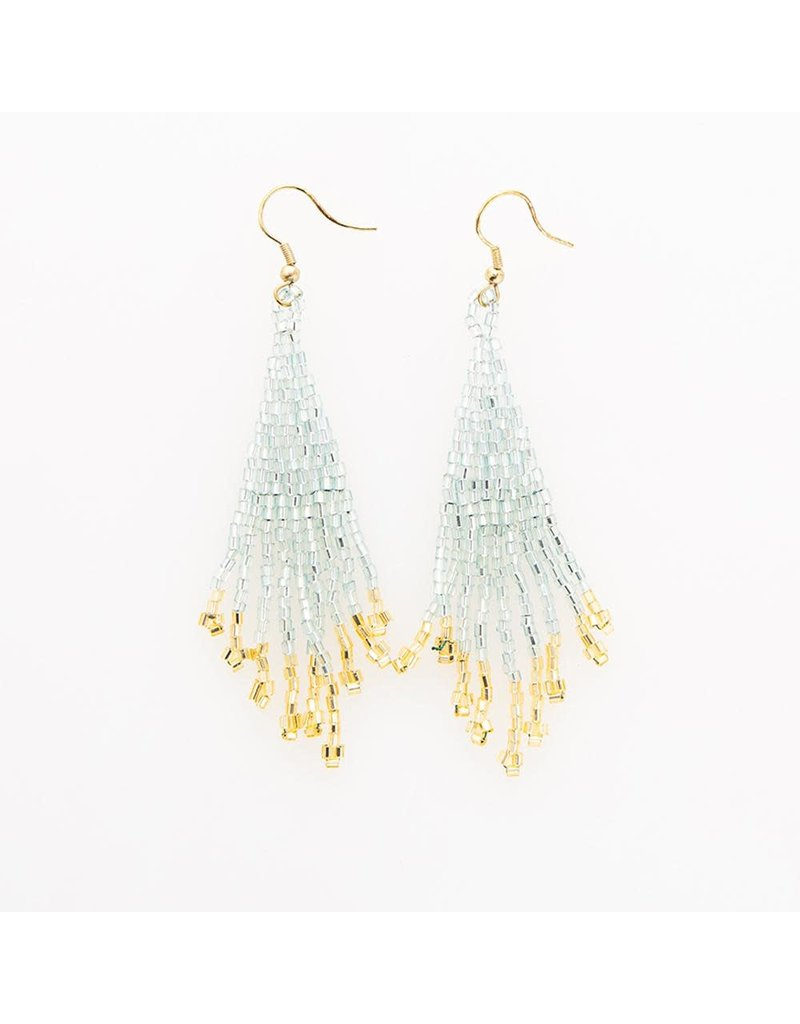 Ink + Alloy Sky & Gold Fringe Earring