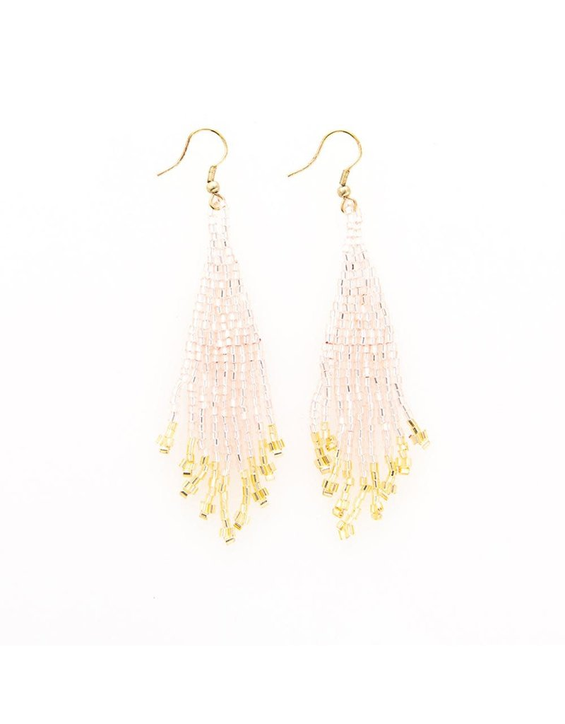 Ink + Alloy Blush & Gold Fringe Earring