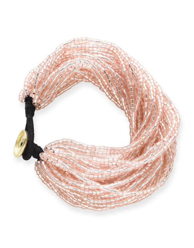 Ink + Alloy Blush Iridescent Multi Strand Bracelet