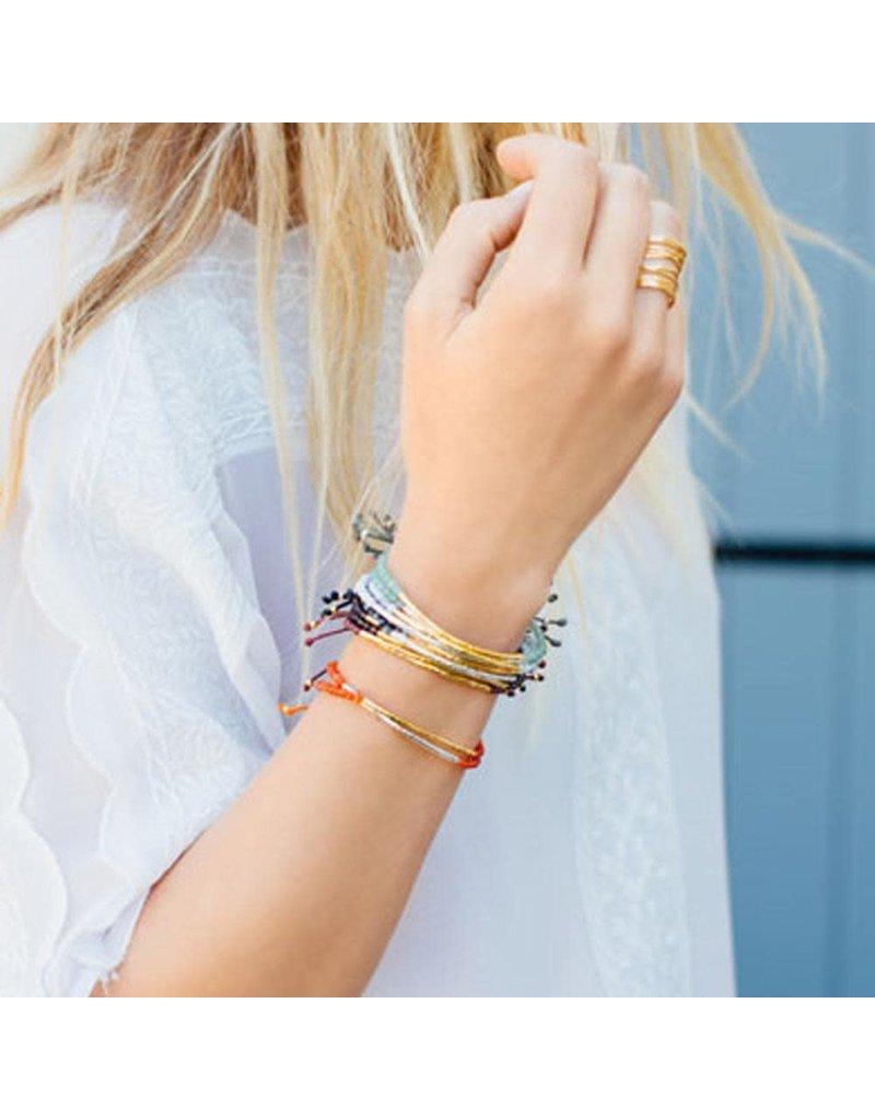 gorjana Power Aquamarine Gemstone Truth Bracelet
