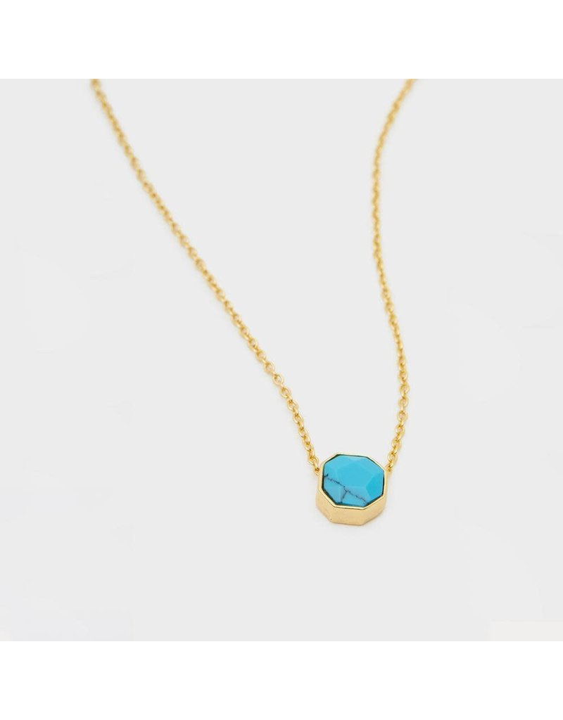 gorjana Power Turquoise Gemstone Charm Healing Necklace