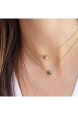 gorjana Power Pyrite Gemstone Charm Strength Necklace