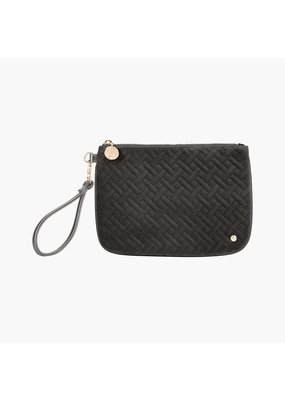 Stephanie Johnson Milan Black Large Flat Wristlet