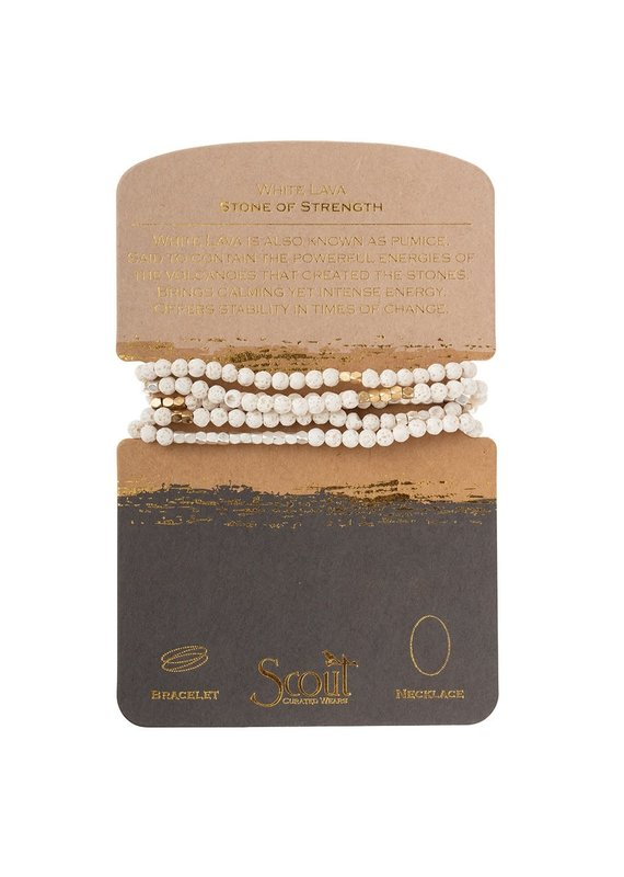 Scout White Lava Gold & Silver Stone Wrap