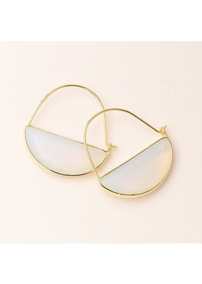 Scout Opalite & Gold Stone Prism Hoop