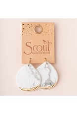 Scout Fosil Coral & Gold Stone Dipped Teardrop Earring