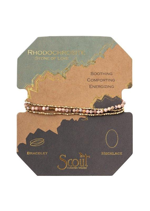 Scout Rhodochrosite Delicate Stone Wrap