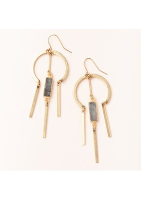 Scout Labradorite & Gold Dream Catcher Stone Earring