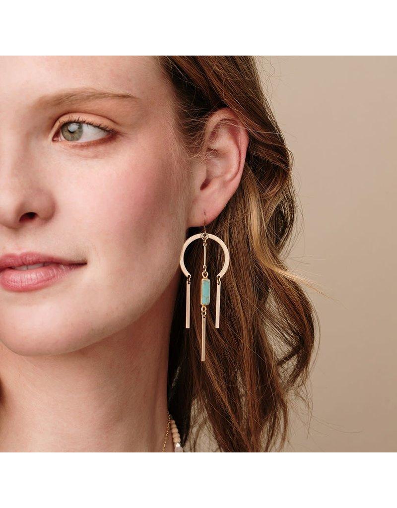 Scout Labradorite & Gold Dream Catcher Stone Earring