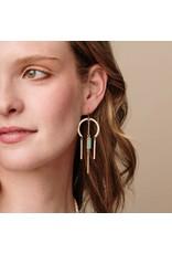 Scout Rose Quartz & Gold Dream Catcher Stone Earring