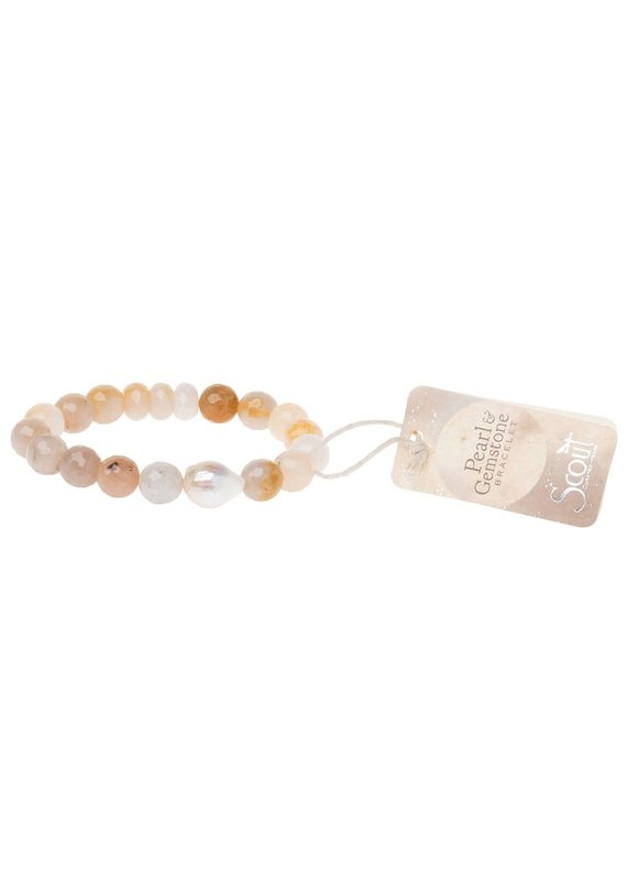 Scout Pearl & Ivory Agate Stacking Bracelet