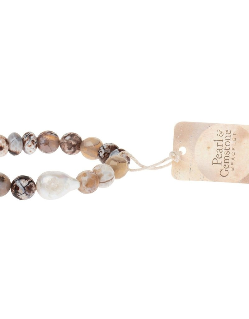 Scout Pearl & Mauve Agate Stacking Bracelet