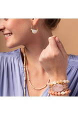 Scout Pearl & Pink Agate Stacking Bracelet