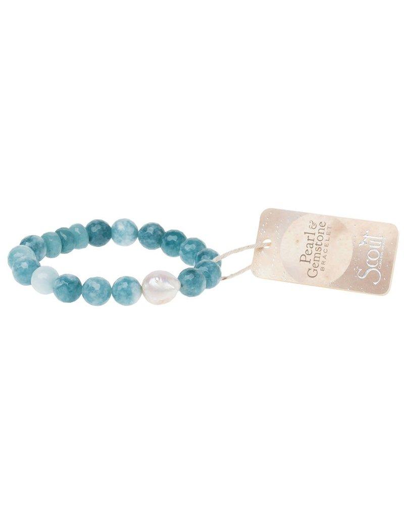 Scout Pearl & Sea Blue Agate