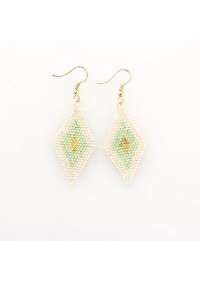 Ink + Alloy Mint Border Diamond Luxe Earring