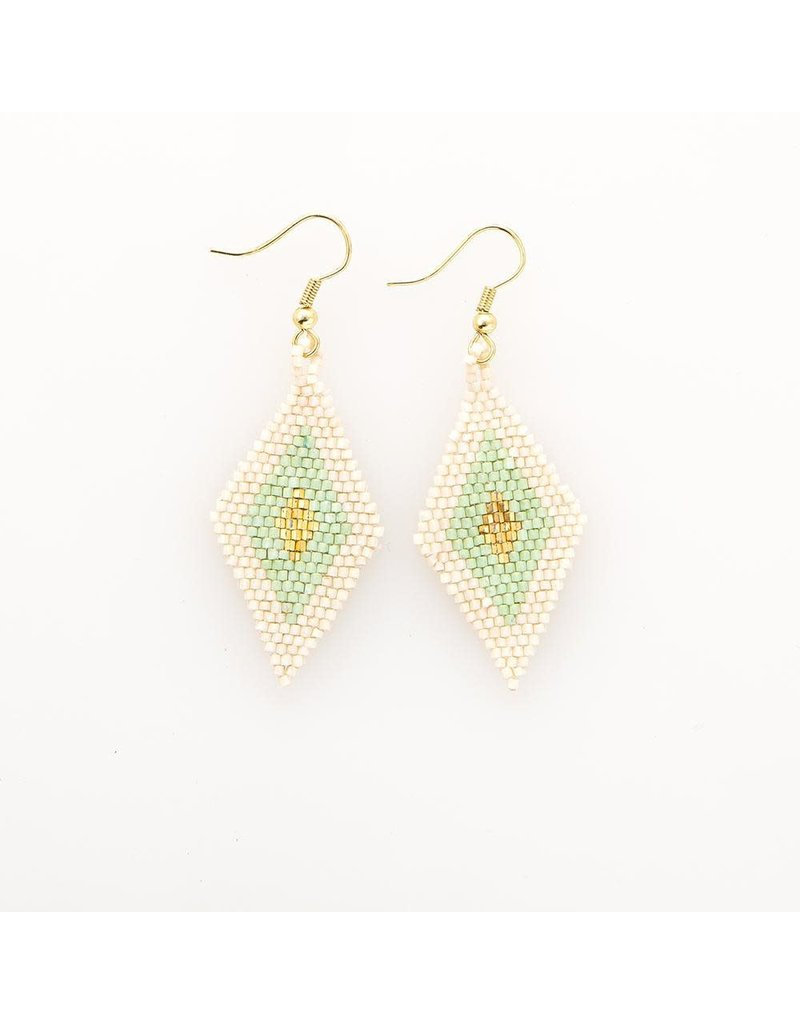 Ink + Alloy Mint Border Diamond Luxe Earring