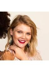 Ink + Alloy Teal Diamond Luxe Stripe Earring