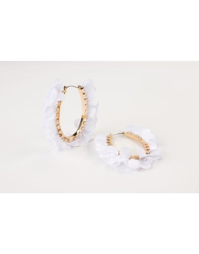 Violet & Brooks Olivia Oval Hoops White