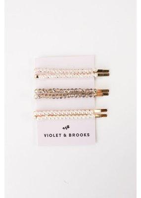 Violet & Brooks Brie Glass Bead Bobbie Set Grey