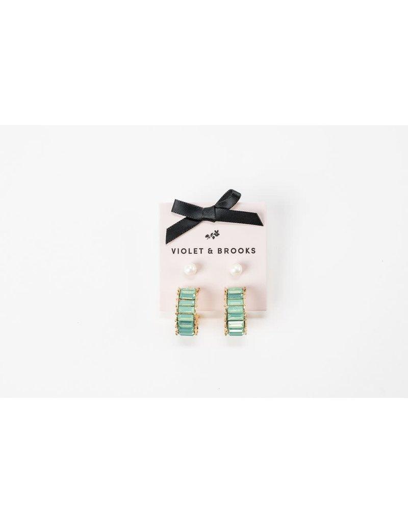 Violet & Brooks Elyse Hoop Duet Mint