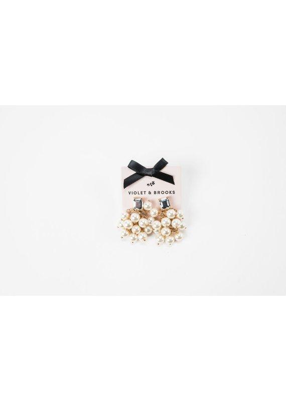 Violet & Brooks Elyse Bauble Earring Pearl