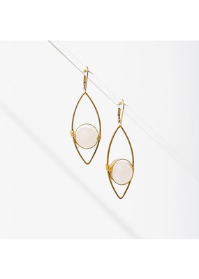 Larissa Loden Rose Quartz Tempest Earrings