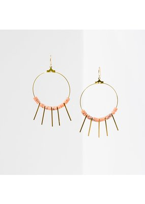 Larissa Loden Pink Howlite Shani Earrings
