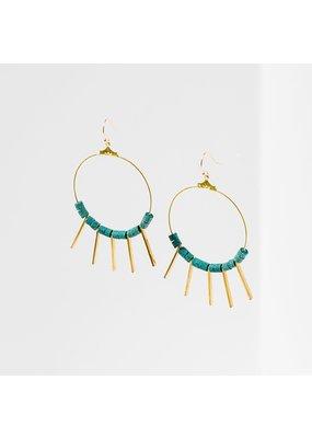 Larissa Loden Green Turquoise Shani Earrings