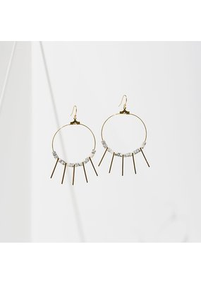 Larissa Loden Howlite Shani Earrings