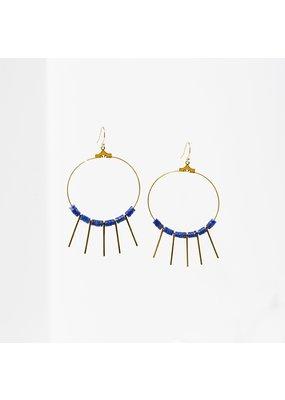 Larissa Loden Lapis Shani Earrings