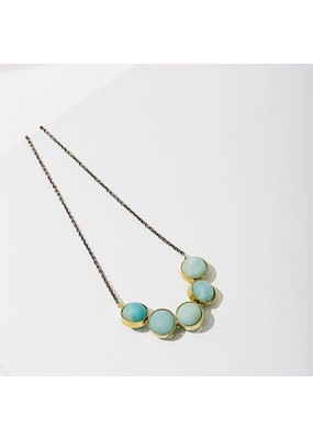 Larissa Loden Amazonite Alignment Brass Necklace