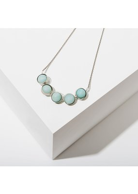Larissa Loden Amazonite Alignment Silver Necklace