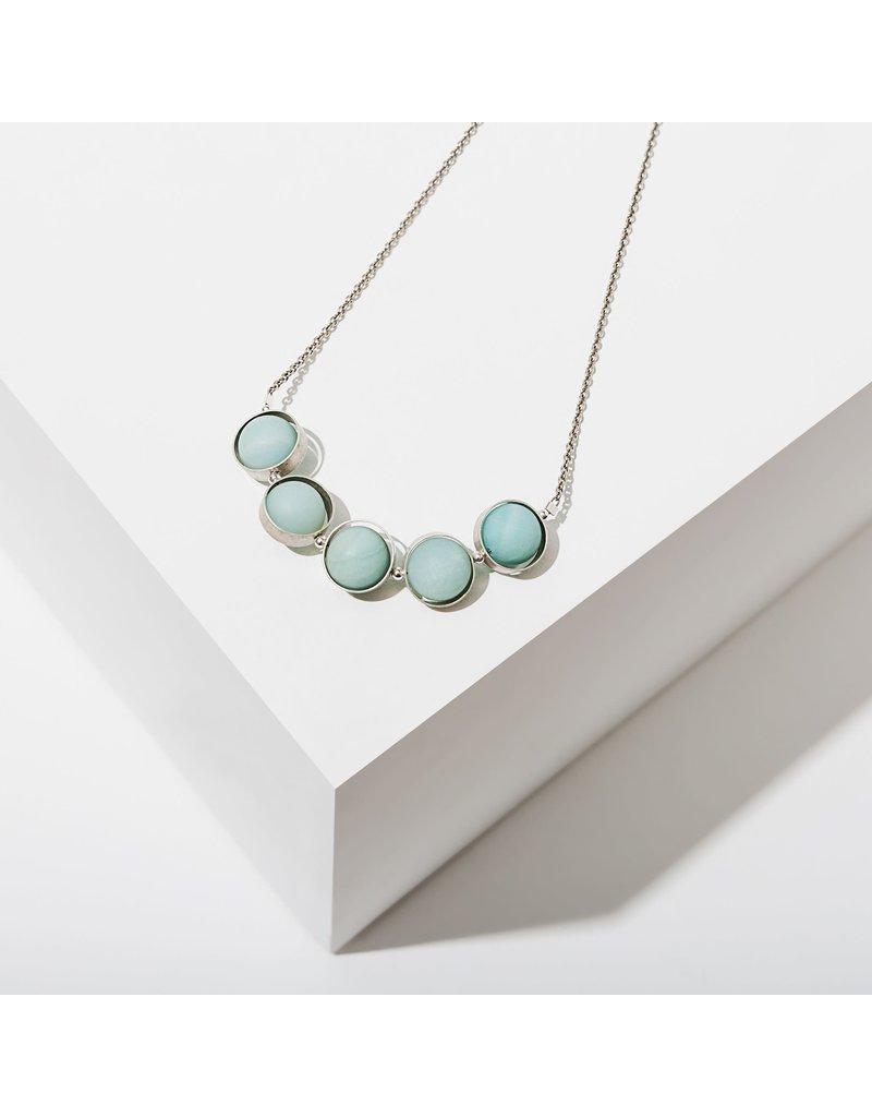 Larissa Loden Amazonite Alignment Silver Necklace