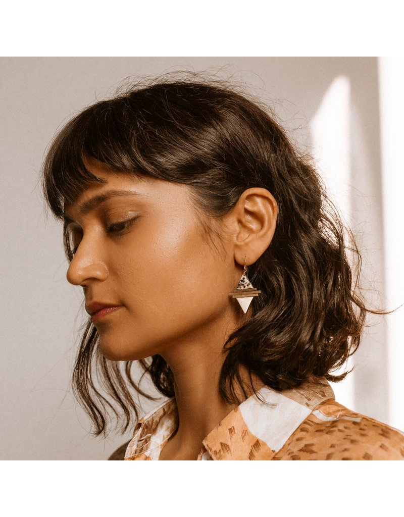Larissa Loden Clear Quartz Protos Earrings