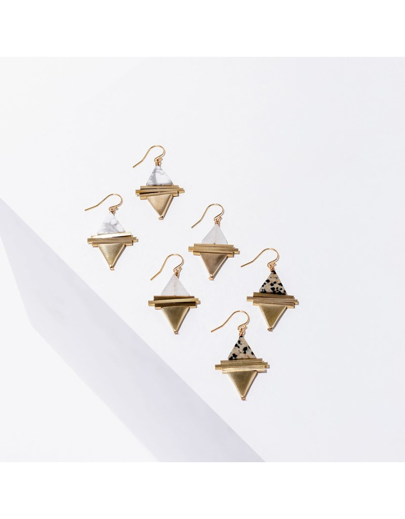 Larissa Loden Howlite Protos Earrings
