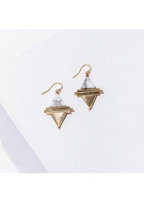 Larissa Loden Howlite Protos Earrings