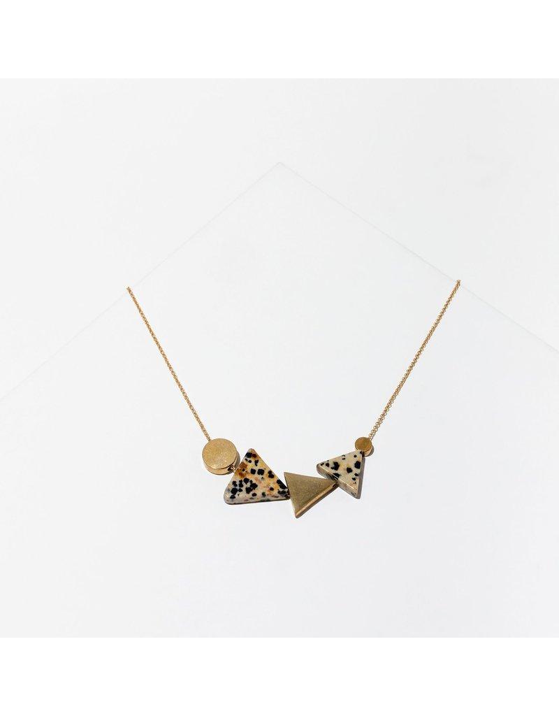 Larissa Loden Dalmation Jasper Klee Necklace
