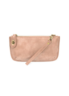Joy Susan Blush Lustre Lux Crossbody Wristlet Clutch