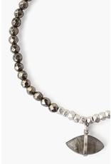 CHAN LUU Pyrite Mix Evil Eye Charm Bracelet