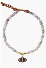 CHAN LUU Iolite Mix Evil Eye Charm Bracelet