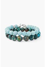 CHAN LUU Turquoise Mix Bracelet Set
