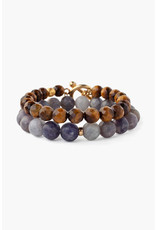 CHAN LUU Iolite Mix Bracelet Set