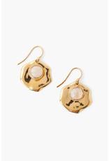 CHAN LUU Moonstone & Gold Thumbprint Earrings