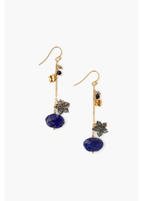 CHAN LUU Lapis Stone & Shell Earrings