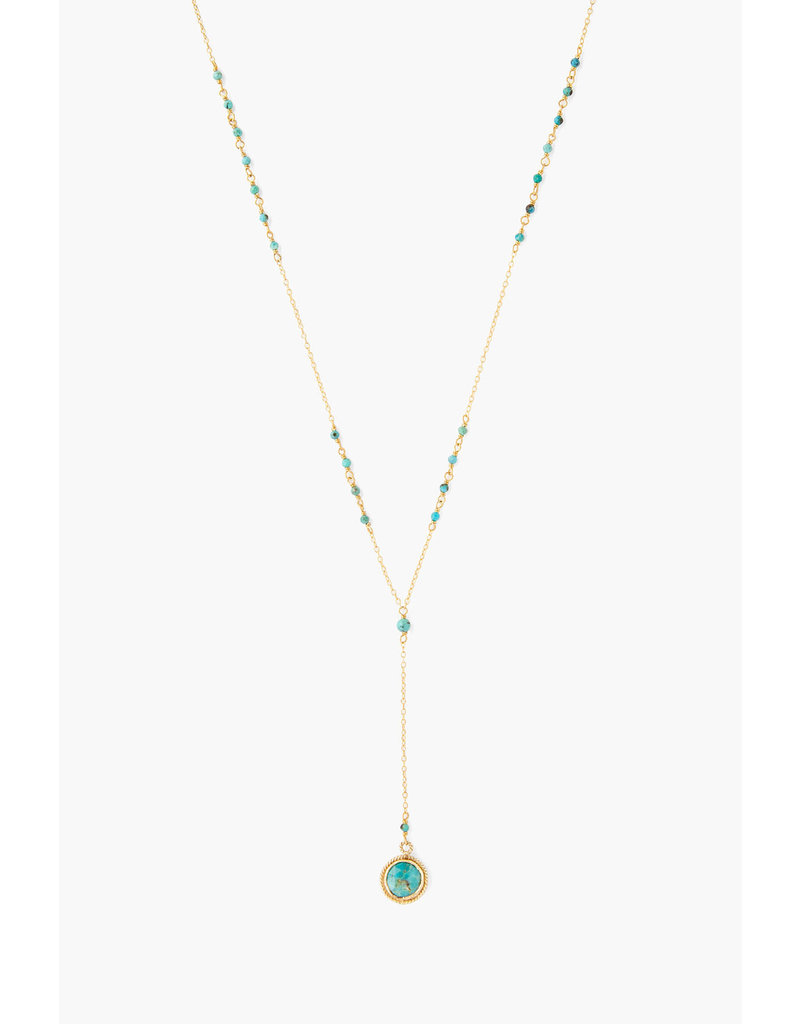 CHAN LUU Turquoise Mix Pendant Y-Necklace
